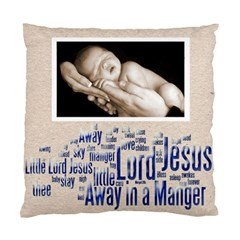 Away In A Manger Snowflake Cushion By Catvinnat   Standard Cushion Case (two Sides)   Sle58q6w4i38   Www Artscow Com Front