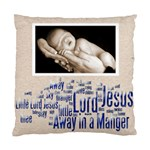 away in a manger snowflake cushion - Cushion Case (Two Sides)