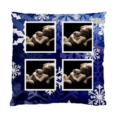 Away In A Manger Snowflake Cushion By Catvinnat   Standard Cushion Case (two Sides)   Sle58q6w4i38   Www Artscow Com Back