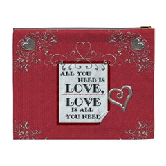 All You Need Is Love Xl Cosmetic Bag By Lil    Cosmetic Bag (xl)   Giyqb3x5txaa   Www Artscow Com Back
