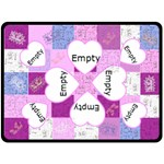 Love You This Much w/Pink Heart Frames Ex Large Fleece Blanket - Fleece Blanket (Large)