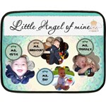Little Angel of Mine Boy Mini Fleece Blanket