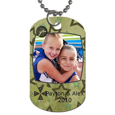 Dog Tag For Alex And Little P By Jacque Santana   Dog Tag (one Side)   4640xh0otr7o   Www Artscow Com Front