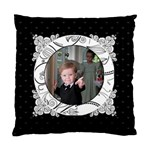 Pinstripe Hearts 2 Sided Cushion - Standard Cushion Case (Two Sides)