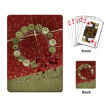 Holiday Wreath playing cards - Playing Cards Single Design
