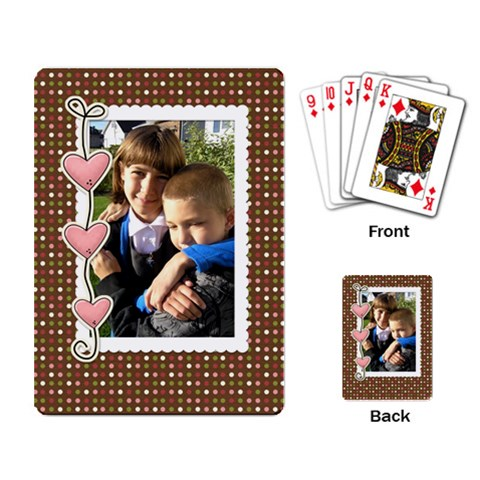 Love You Cards By Albums To Remember   Playing Cards Single Design   I8vanc2ov1j5   Www Artscow Com Back