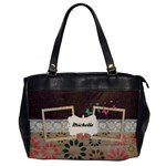 Flowers-Oversize Office Handbag - Oversize Office Handbag (One Side)
