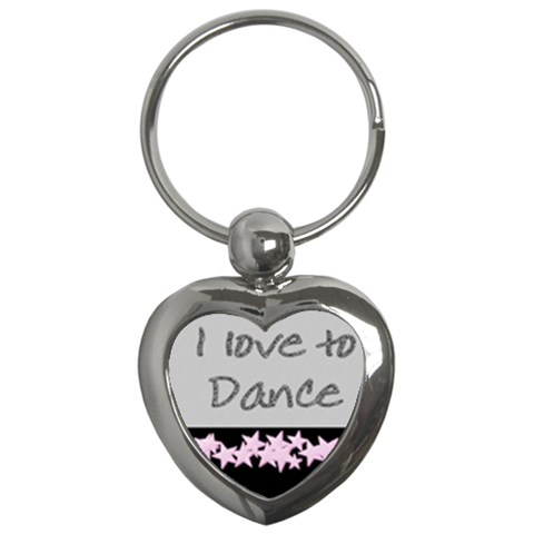 I Love To Dance Key Chain By Danielle Christiansen   Key Chain (heart)   9zpokqfqzzm6   Www Artscow Com Front