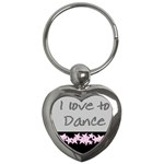 i love to dance key chain - Key Chain (Heart)