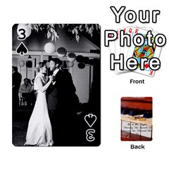 Wedding Cards By Emma   Playing Cards 54 Designs (rectangle)   W89qejs8gkhs   Www Artscow Com Front - Spade3