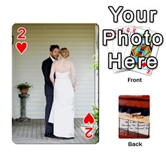 Wedding Cards By Emma   Playing Cards 54 Designs (rectangle)   W89qejs8gkhs   Www Artscow Com Front - Heart2