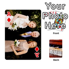 Ace Wedding Cards By Emma   Playing Cards 54 Designs (rectangle)   W89qejs8gkhs   Www Artscow Com Front - DiamondA