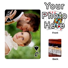 Jack Wedding Cards By Emma   Playing Cards 54 Designs (rectangle)   W89qejs8gkhs   Www Artscow Com Front - SpadeJ