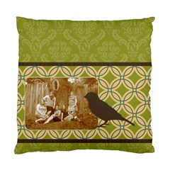 Green Deco Bird 2 Sided Cushion By Klh   Standard Cushion Case (two Sides)   Hmyo5uuahtgx   Www Artscow Com Front