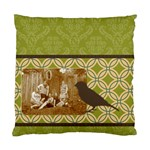 Green Deco Bird 2 Sided Cushion - Standard Cushion Case (Two Sides)