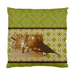 Green Deco Bird 2 Sided Cushion By Klh   Standard Cushion Case (two Sides)   Hmyo5uuahtgx   Www Artscow Com Back
