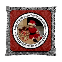 Family & Friends Christmas 2 Sided Cushion Case By Klh   Standard Cushion Case (two Sides)   Ie5fom24th7i   Www Artscow Com Front