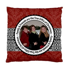 Family & Friends Christmas 2 Sided Cushion Case By Klh   Standard Cushion Case (two Sides)   Ie5fom24th7i   Www Artscow Com Back