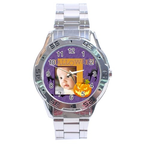 Halloween By Joely   Stainless Steel Analogue Watch   3w9nknkyd4tk   Www Artscow Com Front