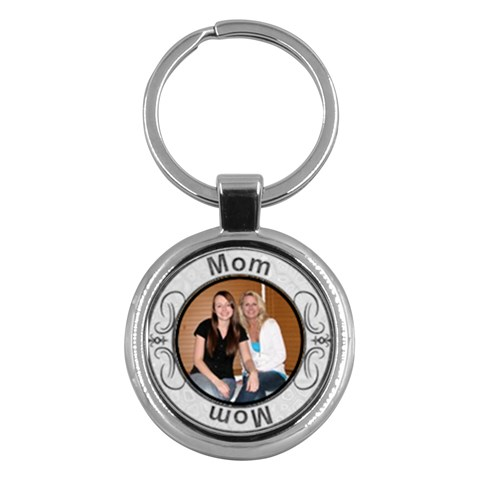 Mom Key Chain By Lil    Key Chain (round)   Do7cdythysjo   Www Artscow Com Front