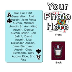 Ace Deck2 By Michael Aucoin   Playing Cards 54 Designs   Iwlr36mpv05o   Www Artscow Com Front - ClubA