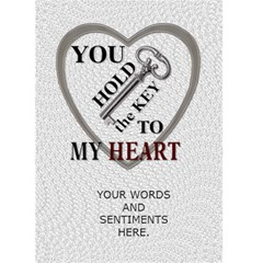 Key To My Heart Valentines Day Card By Lil    Greeting Card 5  X 7    8umd65r5vywx   Www Artscow Com Back Inside