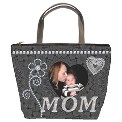 Charcoal Diamond Mom Bucket Bag By Lil    Bucket Bag   U4pjgr9qcfnp   Www Artscow Com Front