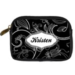Black & White Swirls Digital Camera Leather Case