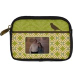 Green & Brown Digital Camera Leather Case