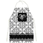 Black & White Heart Frame Full Print Apron