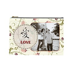 Love Large Cosmetic Bag By Lil    Cosmetic Bag (large)   Rtn7ik9cut0l   Www Artscow Com Front
