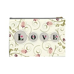 Love Large Cosmetic Bag By Lil    Cosmetic Bag (large)   Rtn7ik9cut0l   Www Artscow Com Back