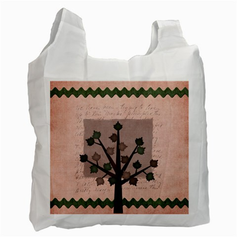 Harmony Fall Tree By Bitsoscrap   Recycle Bag (one Side)   Yfbi5wdcrgss   Www Artscow Com Front