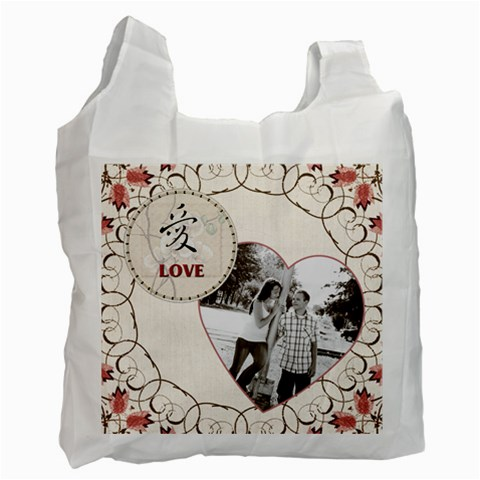 Love Recycle Bag By Lil    Recycle Bag (one Side)   857jw3ntijbw   Www Artscow Com Front