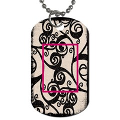 Breast Cancer Pink Ribbon Dog Tag By Catvinnat   Dog Tag (two Sides)   8mfqmdgmarop   Www Artscow Com Back