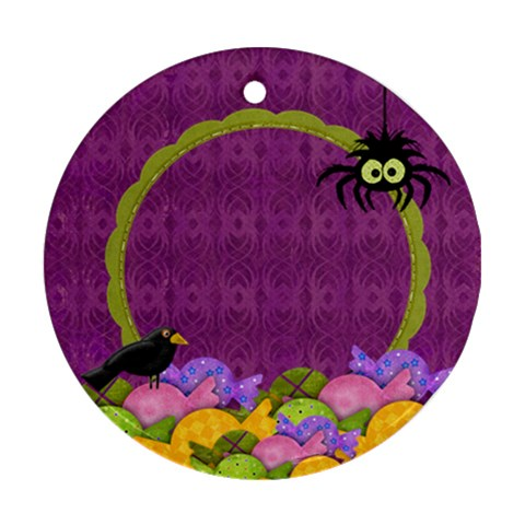 Scrapdzines  I Want Candy! Halloween Ornament By Denise Zavagno   Ornament (round)   Yzfo7ycjknkj   Www Artscow Com Front