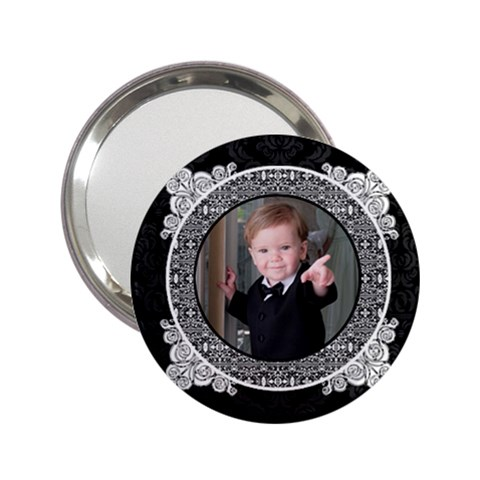 Black & White 2 25  Handbag Mirror By Klh   2 25  Handbag Mirror   Nd0kwe3ghc2o   Www Artscow Com Front