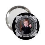 Black & White 2.25  Handbag Mirror