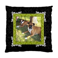 Green, Black, & White 2 Sided Cushion Case By Klh   Standard Cushion Case (two Sides)   3awyuv4kymnh   Www Artscow Com Back