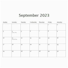 Elegant 2015 12 Month Calendar By Klh   Wall Calendar 11  X 8 5  (12 Months)   Gywcelu0z0kn   Www Artscow Com Sep 2015