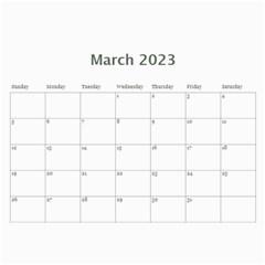 Elegant 2015 12 Month Calendar By Klh   Wall Calendar 11  X 8 5  (12 Months)   Gywcelu0z0kn   Www Artscow Com Mar 2015