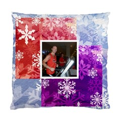 Winter Wonderland Snowflake Cushion 2 By Catvinnat   Standard Cushion Case (two Sides)   Mjfzmoexa4fr   Www Artscow Com Front