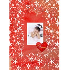 Christmas Basics Floral Heart Christmas Card 2 By Catvinnat   Greeting Card 5  X 7    Htu5tpozqpid   Www Artscow Com Front Cover