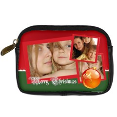 Xmas By Wood Johnson   Digital Camera Leather Case   21difunwh6k3   Www Artscow Com Front