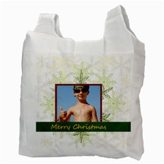 Xmas By Joely   Recycle Bag (two Side)   Nev4v7aiez3h   Www Artscow Com Back