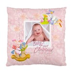blanky bunny pink Baby s first christmas cushion 2 - Cushion Case (Two Sides)