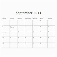 Calander By Janelle   Wall Calendar 11  X 8 5  (12 Months)   Gftg8eg9dioo   Www Artscow Com Sep 2011