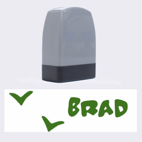 Brad   Rubber Stamp By Carmensita   Name Stamp   De5o9082hgnw   Www Artscow Com 1.4 x0.5  Stamp