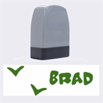 BRAD - Rubber stamp - Name Stamp