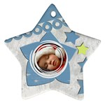 Christmas baby BLUE - ORNAMENT - Star Ornament (Two Sides)